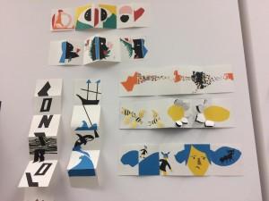 Algunos trabajos de los alumnos asistentes al curso de Katsumi Komagata